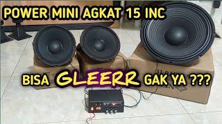 Test Ampli Mini Class D Angkat 2x10 Inc 1x15 Inch Subwoofer