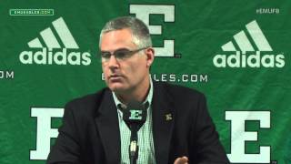 EMU Football Weekly Press Conference - Oct. 12, 2015