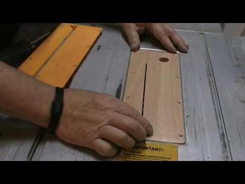 Faire une plaque sans espace pour scie sur table zero - Fabriquer une table pour scie circulaire ...