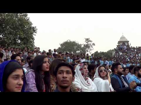Nara E Takbeer Allah O Akber - at Wagah Border Lahore, Sunday, 22nd October, 2017.