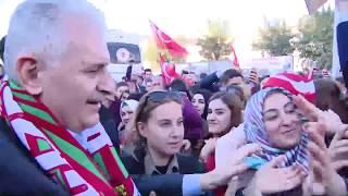 Başbakan Yıldırım, Cizre'de esnaf ziyaretinde bulundu - 17.11.2017