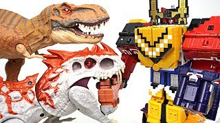 Terrible Jurassic dinosaur appeared!! Power Rangers Zyuohger Wild Zyuoh King combine!! - DuDuPopTOY