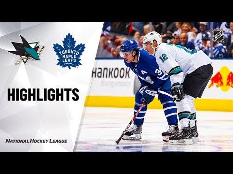 NHL Highlights | Sharks @ Maple Leafs 10/25/19