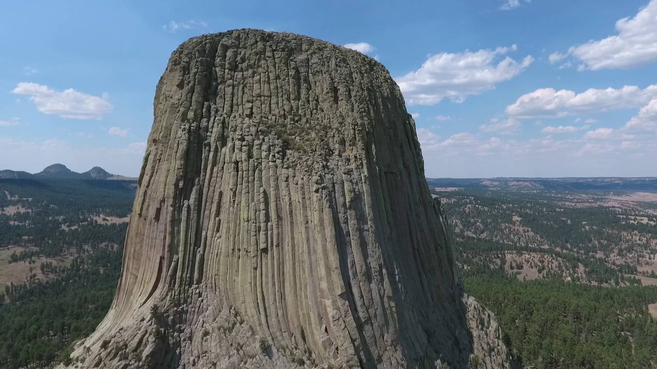 Devils Tower Wy >> Drone around Devils Tower - YouTube