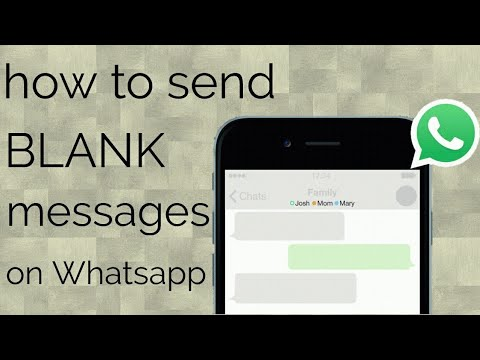 blank message on whatsapp||how to send blank messages on whatsapp