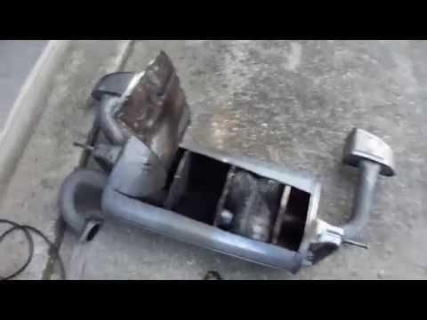 Inside of Genesis Coupe muffler cut open