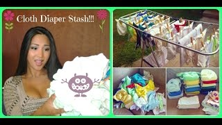 My Newborn Cloth Diaper Stash Thumbnail