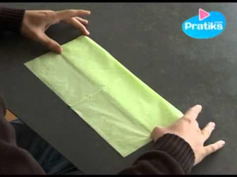 Comment faire un porte couvert avec une serviette en - Comment faire une chaussure en papier ...