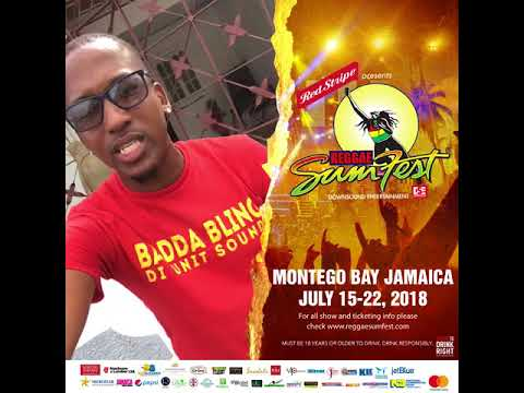 Badda Bling Video Drop for Reggae Sumfest 2018
