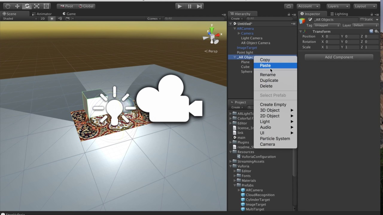 Rendering Light and Shadow with Unity in AR