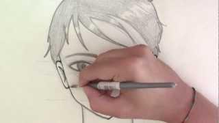 Come disegnare un viso maschile manga ● How to draw  male manga face