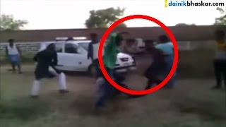 Goons Beat Man with Belt For Extortion Money | Shocking Video