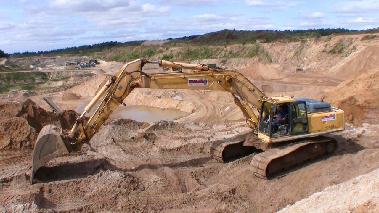 Komatsu Pc450 Excavator Working In A Gravel Pit