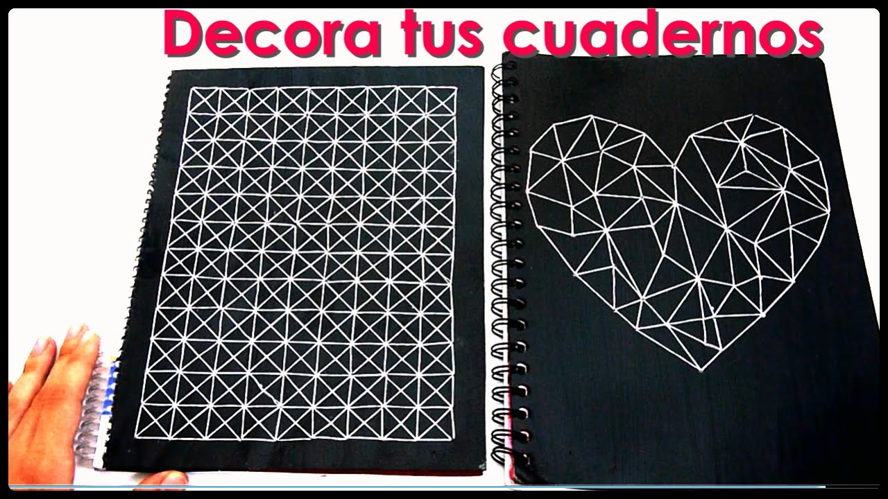 DIY♥ Cómo decorar tus cuadernos - Yami - YouTube