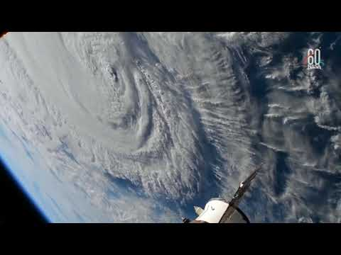Nasa video shows storm Florence from space