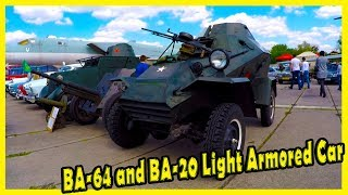 BA-64 and BA-20 Light Armored Car WWII. Old Soviet Armored Vehicles WW2 Review.