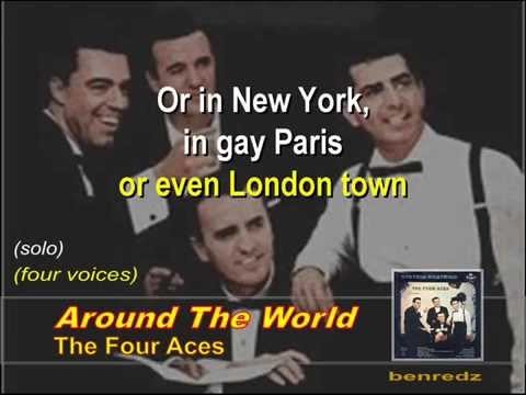 Around The World by The Four Aces - karaoke version