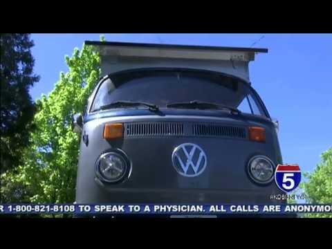 Local man creates solar powered VW Bus