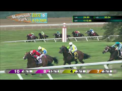 video thumbnail for MONMOUTH PARK 08-15-20 RACE 5