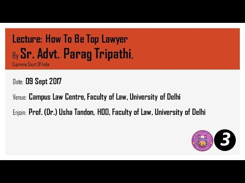 Law Faculty Delhi University Sr Adv Parag Tripathi PART 03