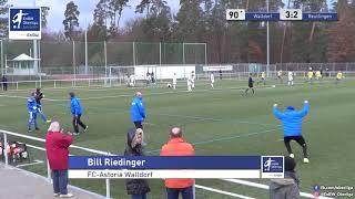 A-Junioren - 3:2 - Bill Riedinger - FC-Astoria Walldorf gegen SSV Reutlingen 1905 Fußball