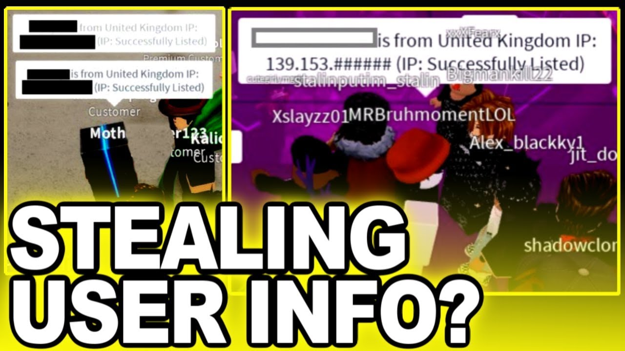 Are Roblox Bots Stealing Users Ip Addresses Youtube