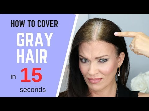 how-to-cover-gray-hair---in-seconds!-**without-coloring-your-hair**