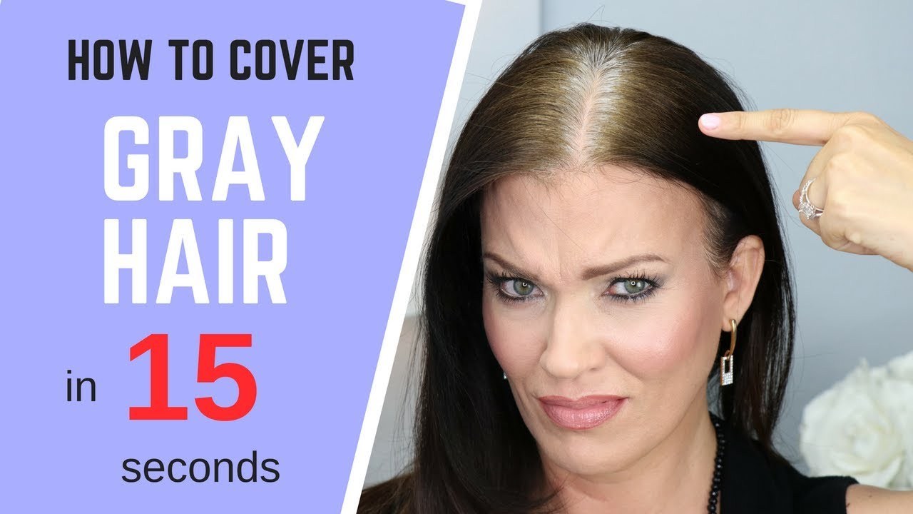 HOW TO Cover GRAY HAIR - IN SECONDS! **without coloring your hair ...
