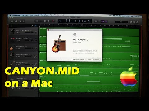 MIDI on a Mac: CANYON.MID in GarageBand