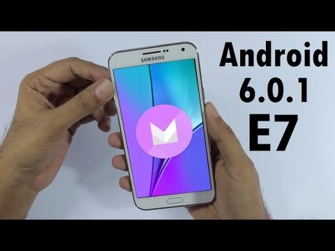 Samsung Galaxy E7 Android 6.0.1 Marshmallow Update Easily Review Tutorial & How To