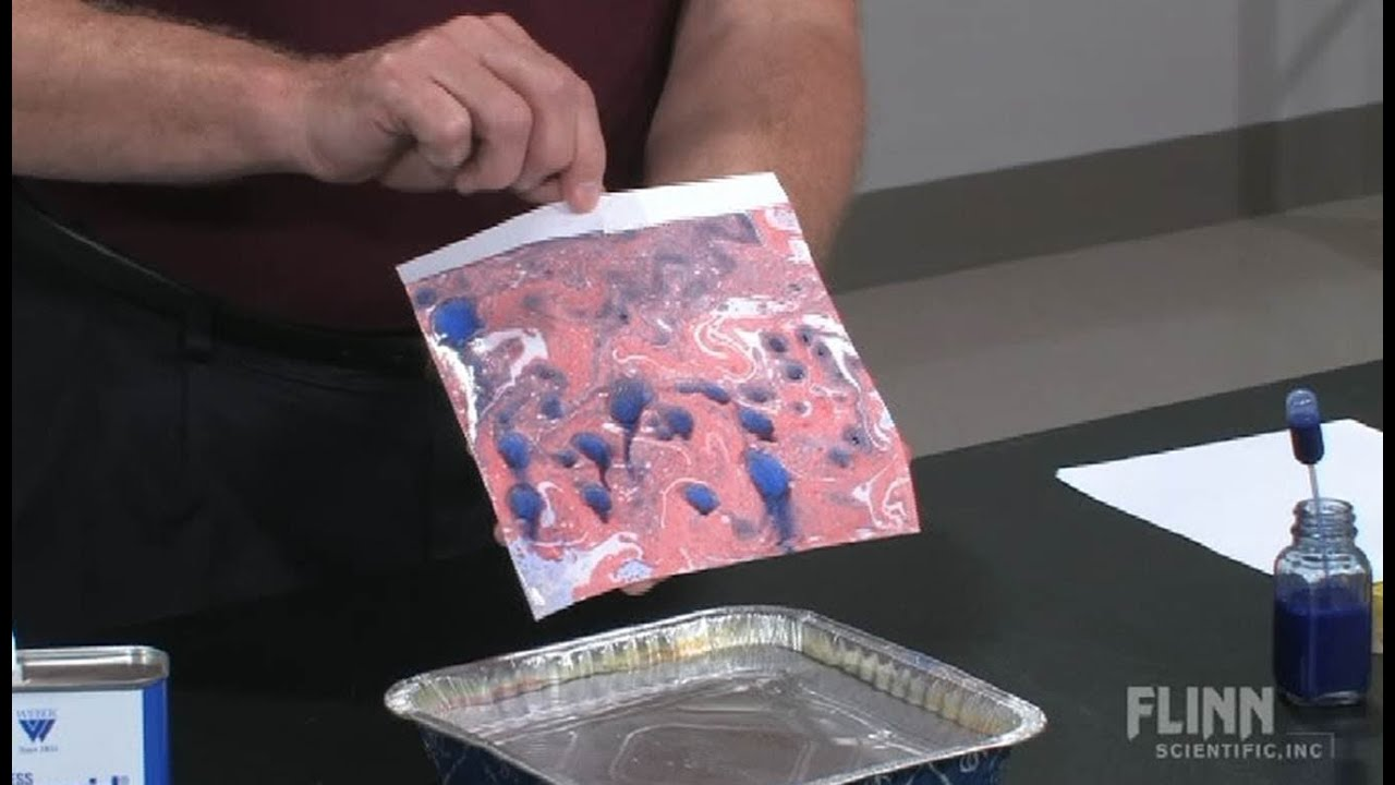 Marbling Paper With Oil Paints Youtube