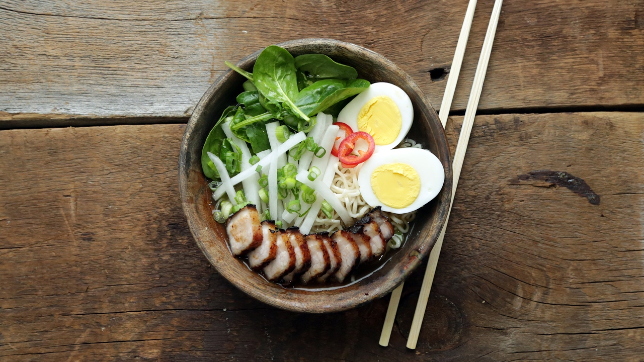 Pork Belly Ramen Noodle Bowl