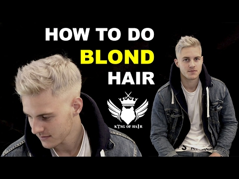 ★ How to Platinium blond hair for men ★ 4K VIDEO ★ How to bleach men's hair★ 2017