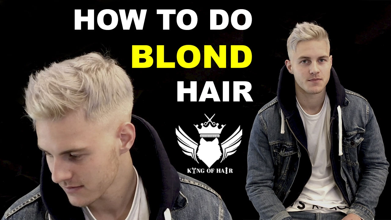 How To Platinium Blond Hair For Men 4k Video How To Bleach