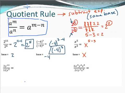 A1 9.2 Exponent Rules