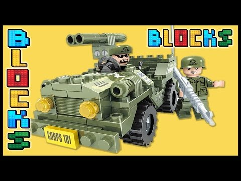 Blocks For Kids | Army Jeep Unboxing | Lego Toys | Block Building Games | Minecraft