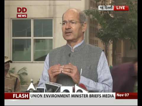 Environment Minister Anil Dave briefs media on Delhi Air pollution
