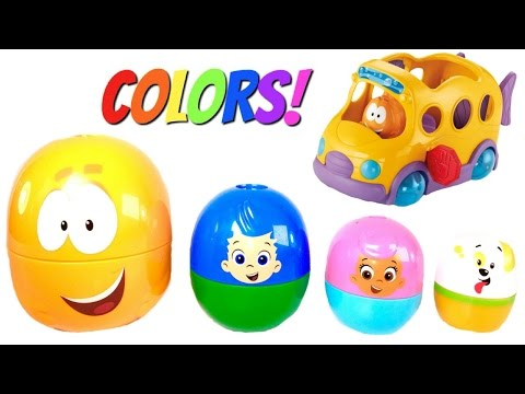Thumbnail: Best Learning Colors Video for Children with Bubble Guppies Stacking Cup and School Bus