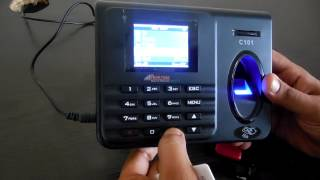 C101 Realtime Biometric Attendance Machine for Pen Drive Backup from USB Port in Excel Format