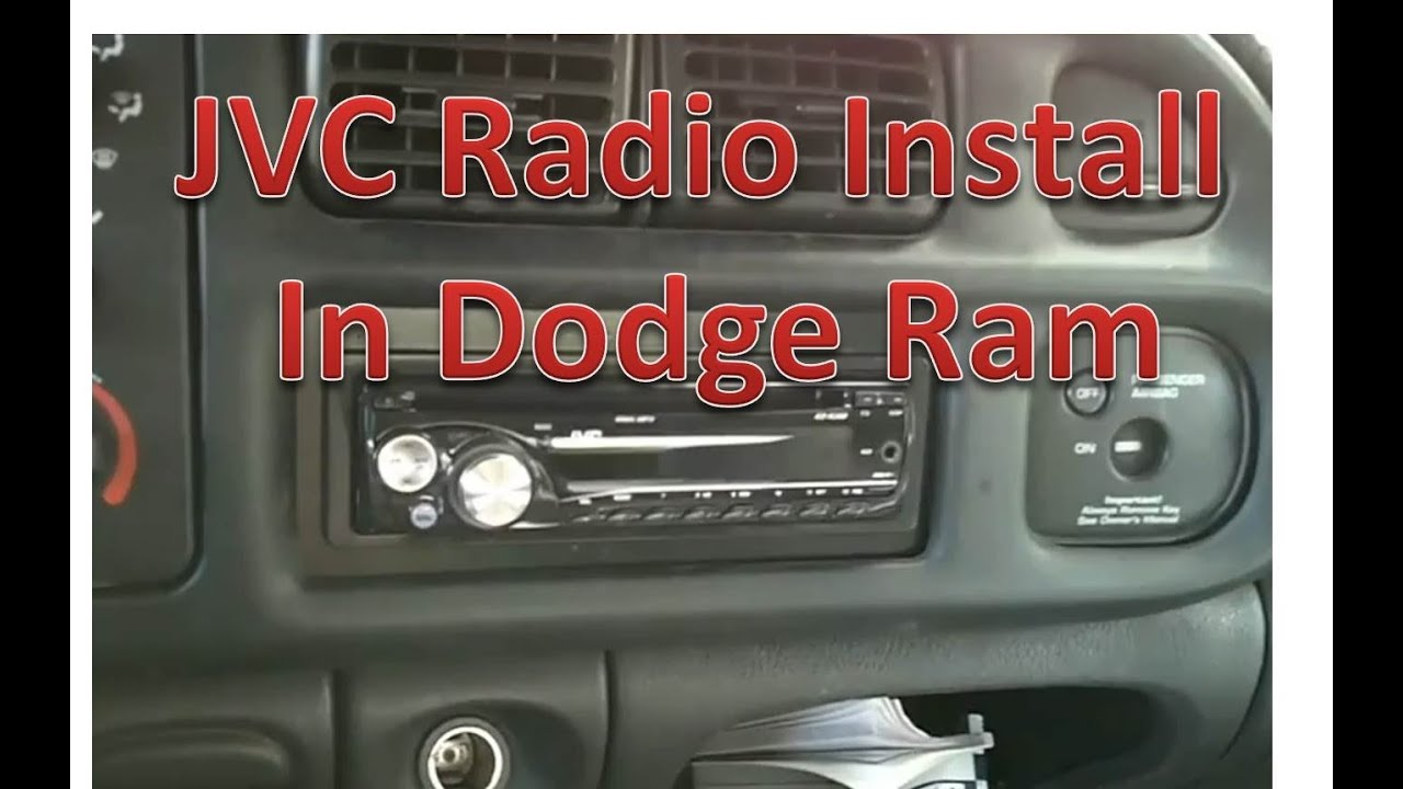 how to install a jvc radio in a dodge ram part 2 youtube rh youtube com 2001 dodge ram radio wiring colors 2001 dodge ram radio wiring colors