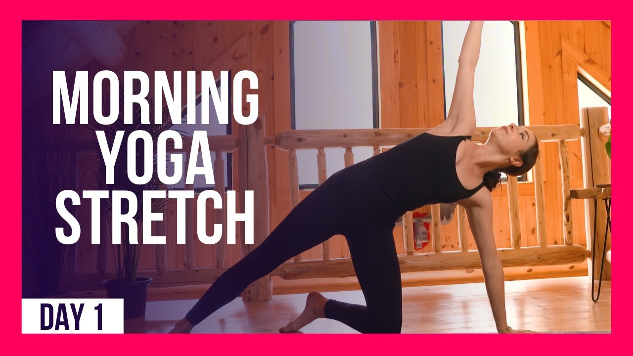 10 min Morning Yoga Stretch For BEGINNERS – Day #1 (10 MIN BEGINNER YOGA)