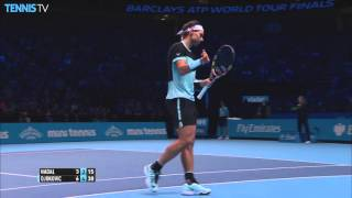 Djokovic Stick Volley Hot Shot Against Nadal In London 2015