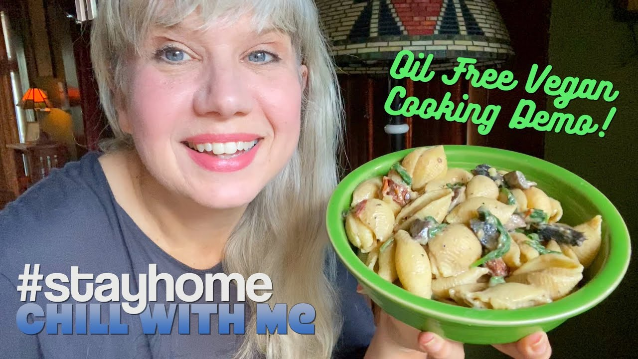 #stayhome with Anji + Oil Free Mushroom Florentine Pasta Recipe Demo