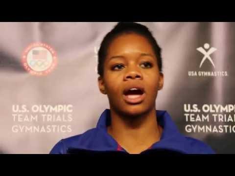 Gabby Douglas - Interview - 2016 U.S. Olympic Team Trials - Night 2