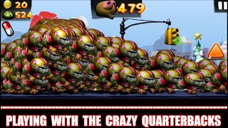 Cheat Zombie Tsunami Playing With The Crazy Quarterback Zombies!