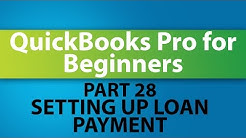 QuickBooks Training Tutorial - Part 28 - How to Setup Loan Payments in QuickBooks