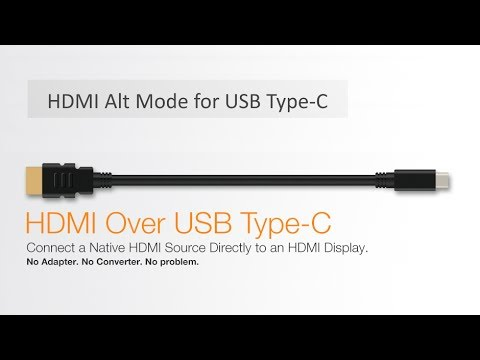 HDMI Alt Mode for USB Type-C - YouTube