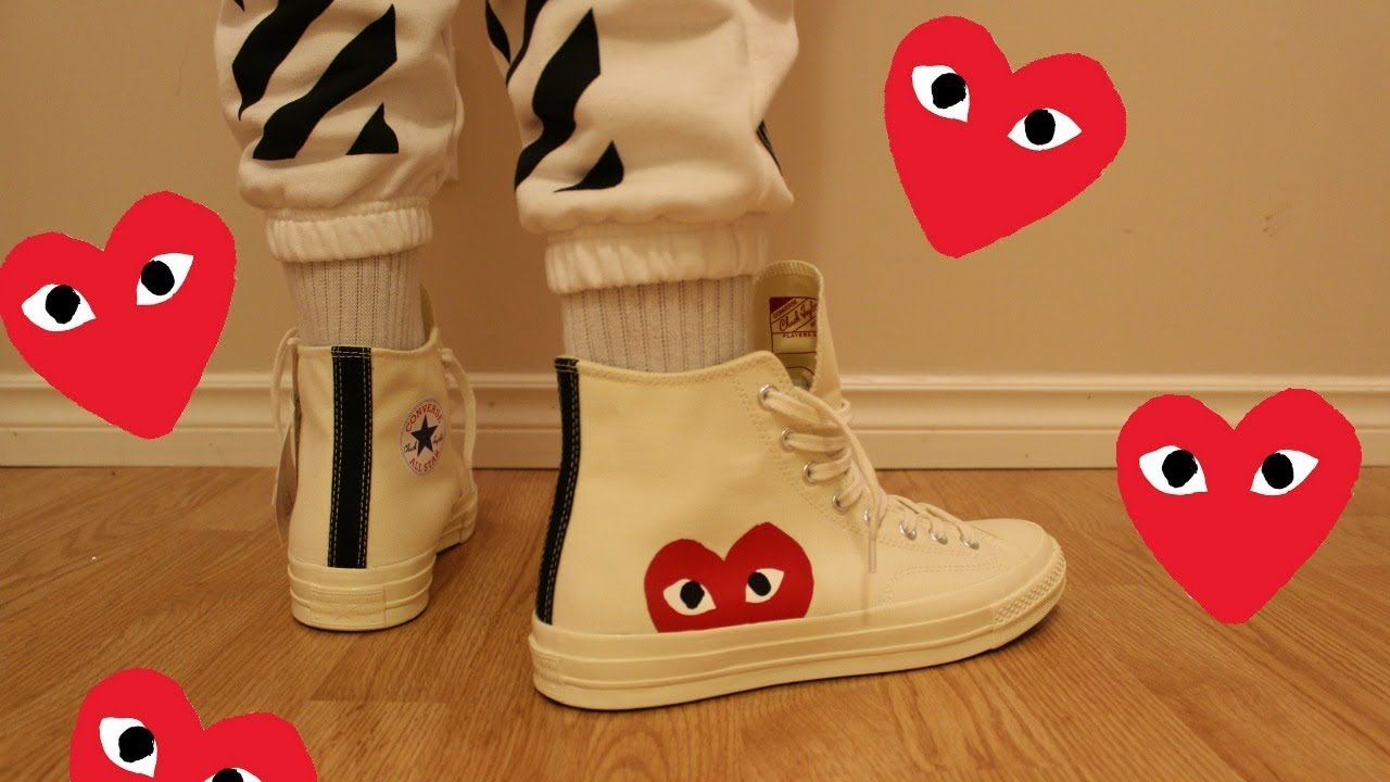 bd35cacbae86 COMME DES GARÇONS PLAY X CONVERSE UNBOXING   REVIEW - YouTube