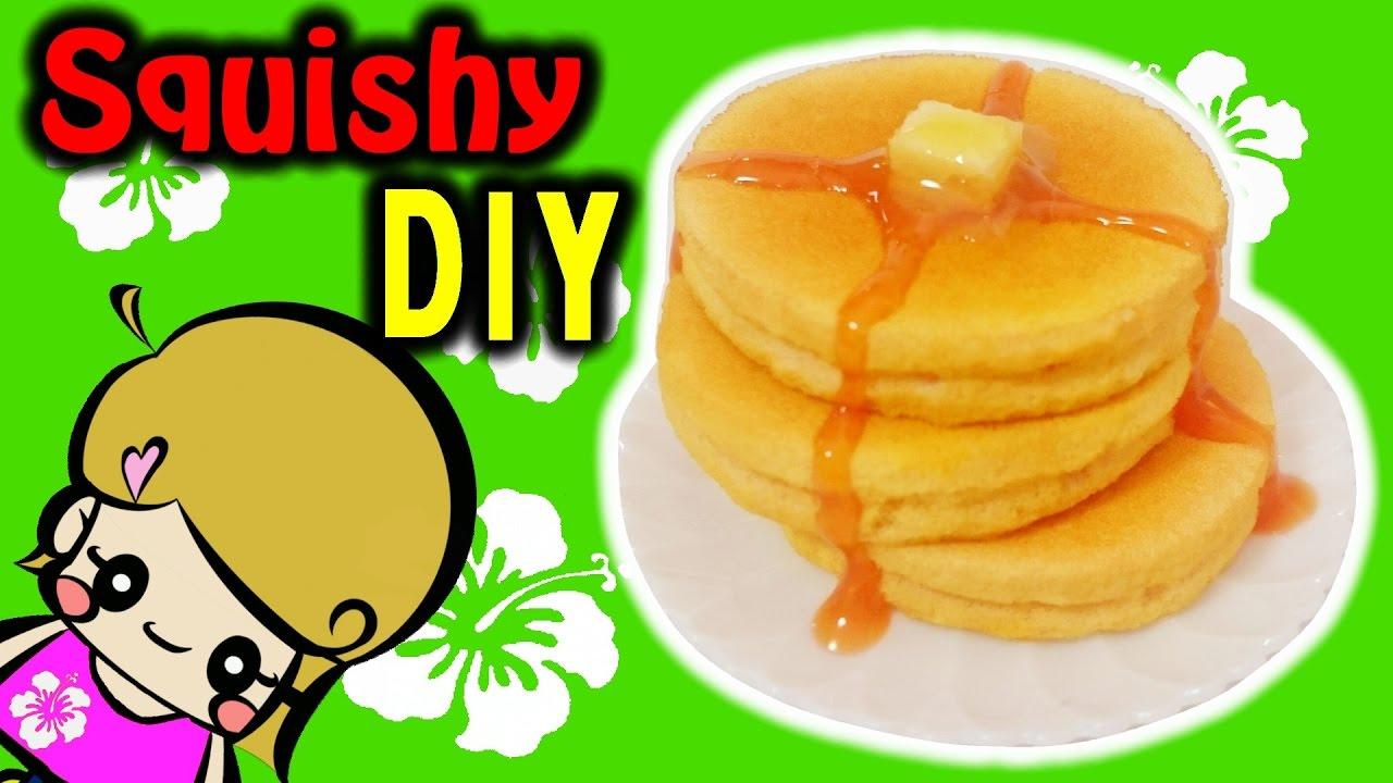 スクイーズ作り方【メイクパフでパンケーキ】ホットケーキ 100均DIY Squishy