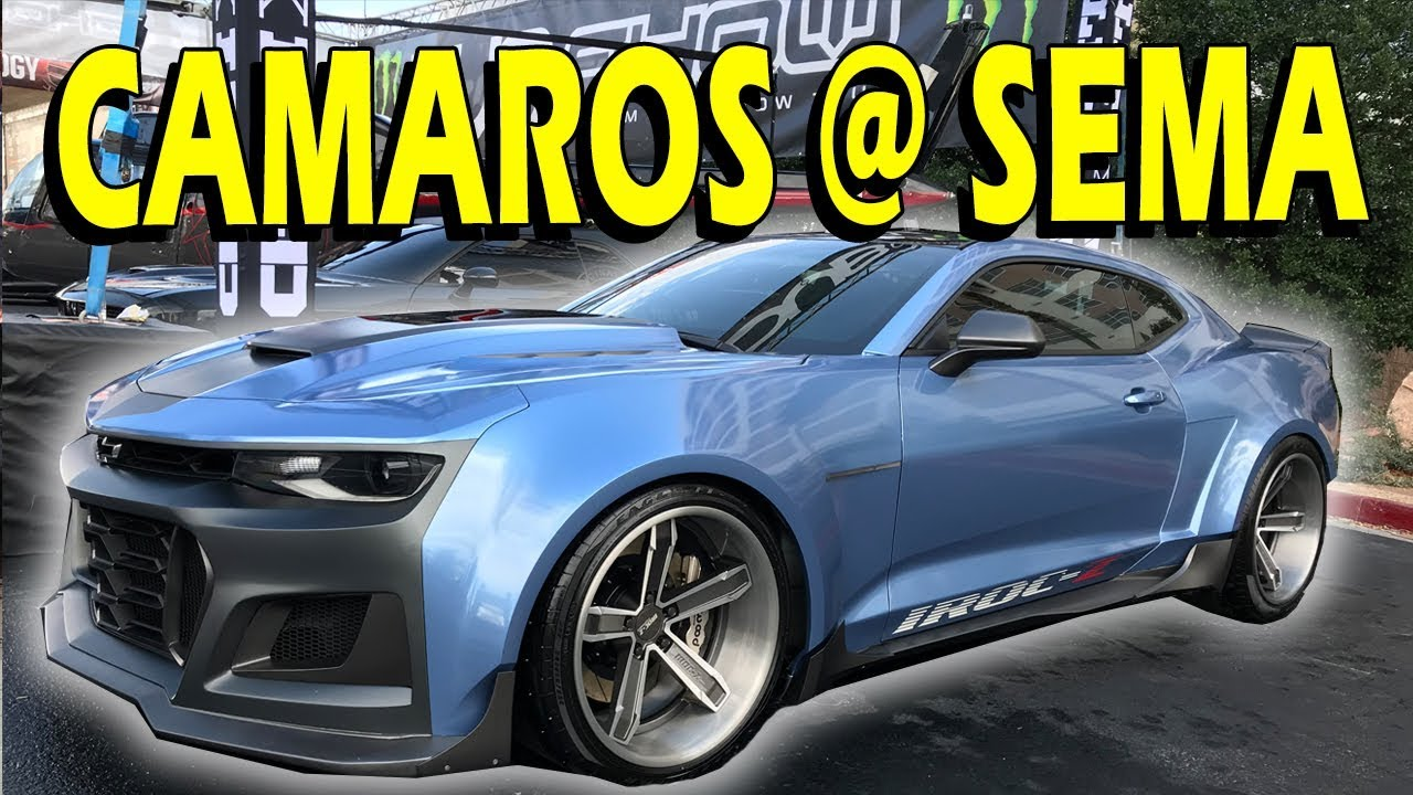 2018 Camaro Iroc Z >> Camaros of SEMA 2017! IROC-Z, Stress, CornfedCamaro, GM Reveals & More… - YouTube